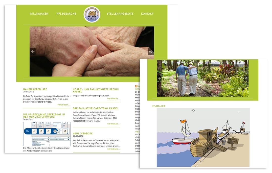 Pflegearche Webseite