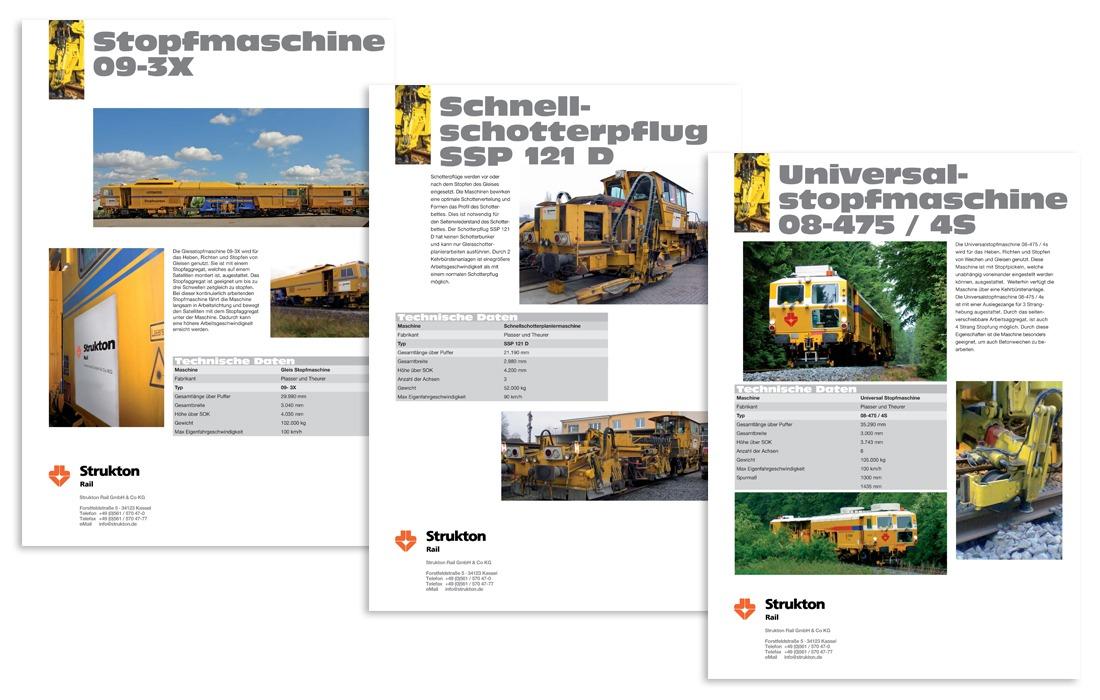Strukton Rail Maschinenblätter