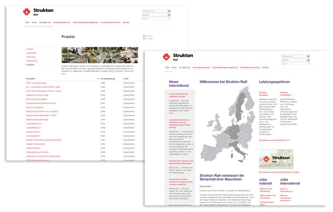 Strukton Rail Webseite
