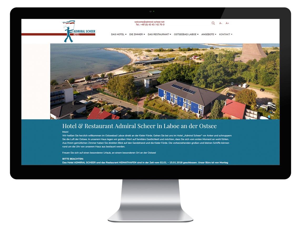 Admiral Scheer Webseite