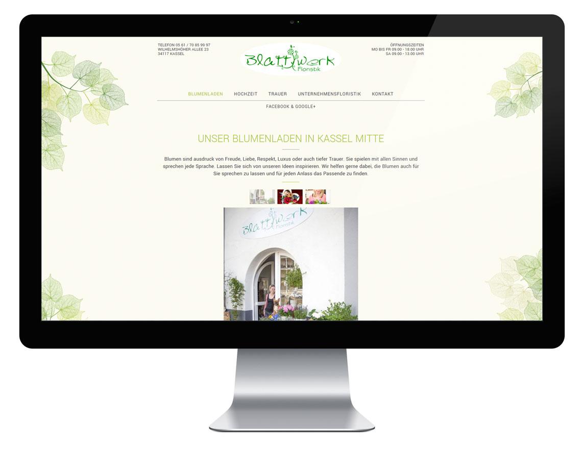 Blattwerk Webseite