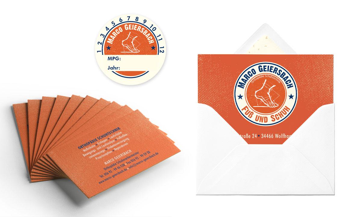 Geiersbach & Grüning Visitenkarten, Postkarte & Aufkleber