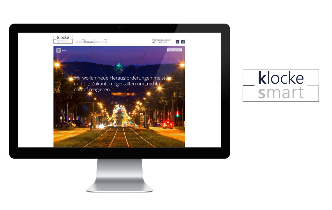 klockesmart Webseite & Logo