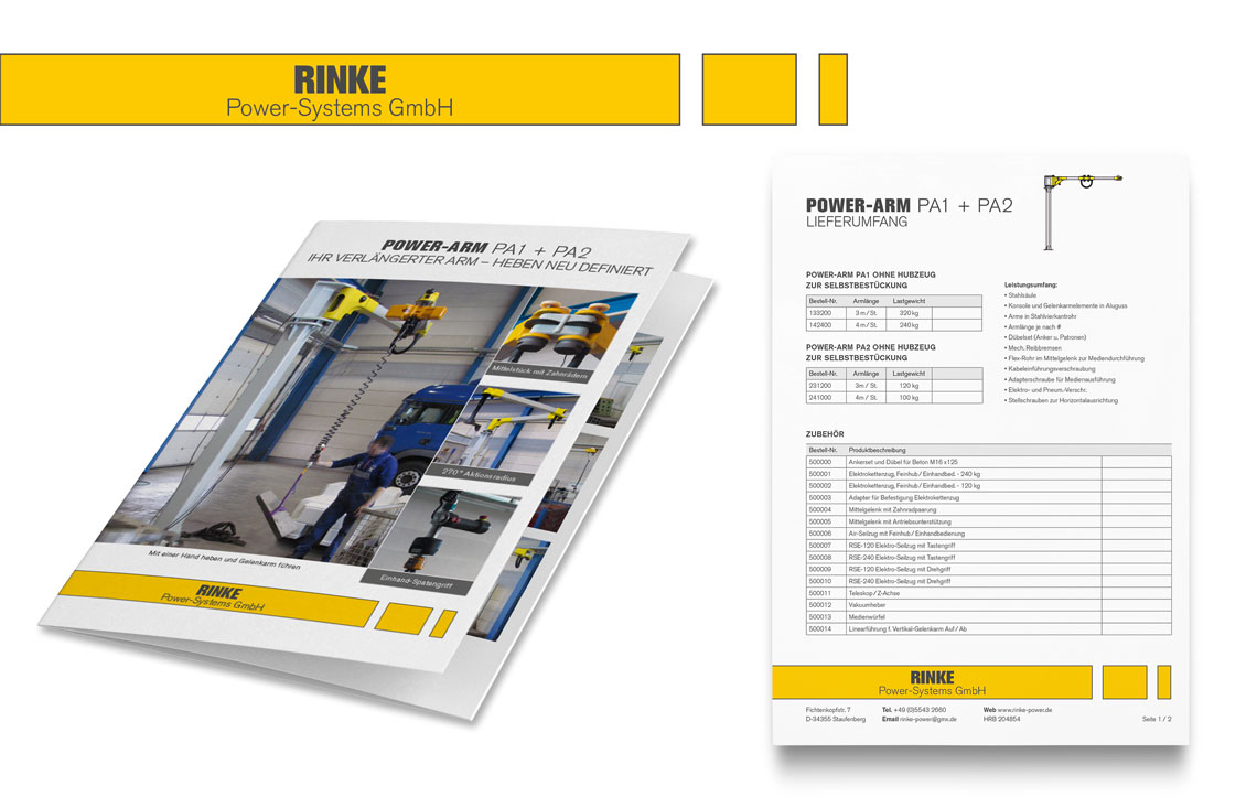 Rinke Power-Systems Corporate Design